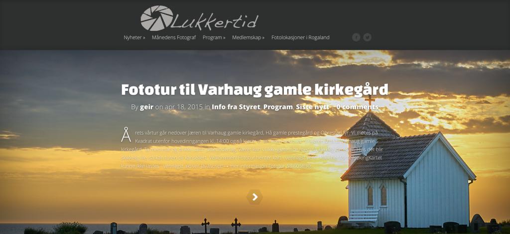 Lukkertid har egen hjemmeside.