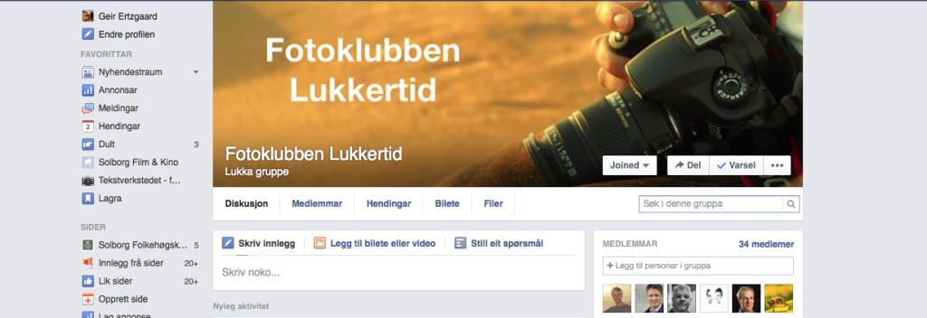 Lukkertid har egen side på Facebook forbeholdt betalende medlemmer.
